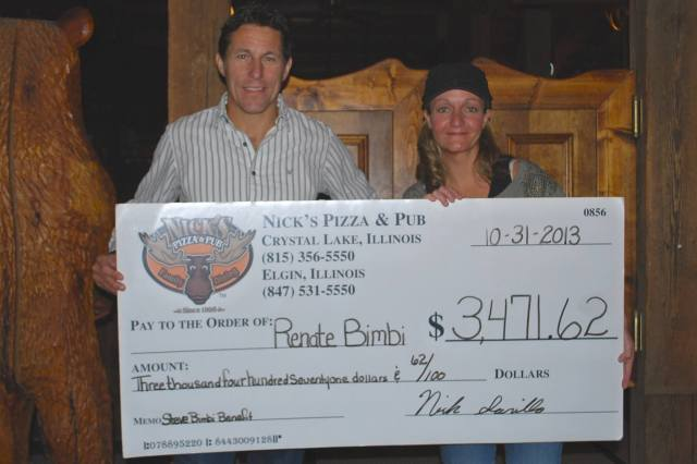 Nick Sarillo of Nick's Pizza & Pub and Renate Bimbi